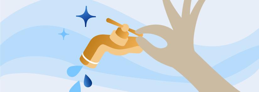 ¿Cómo se economiza agua en un baño?